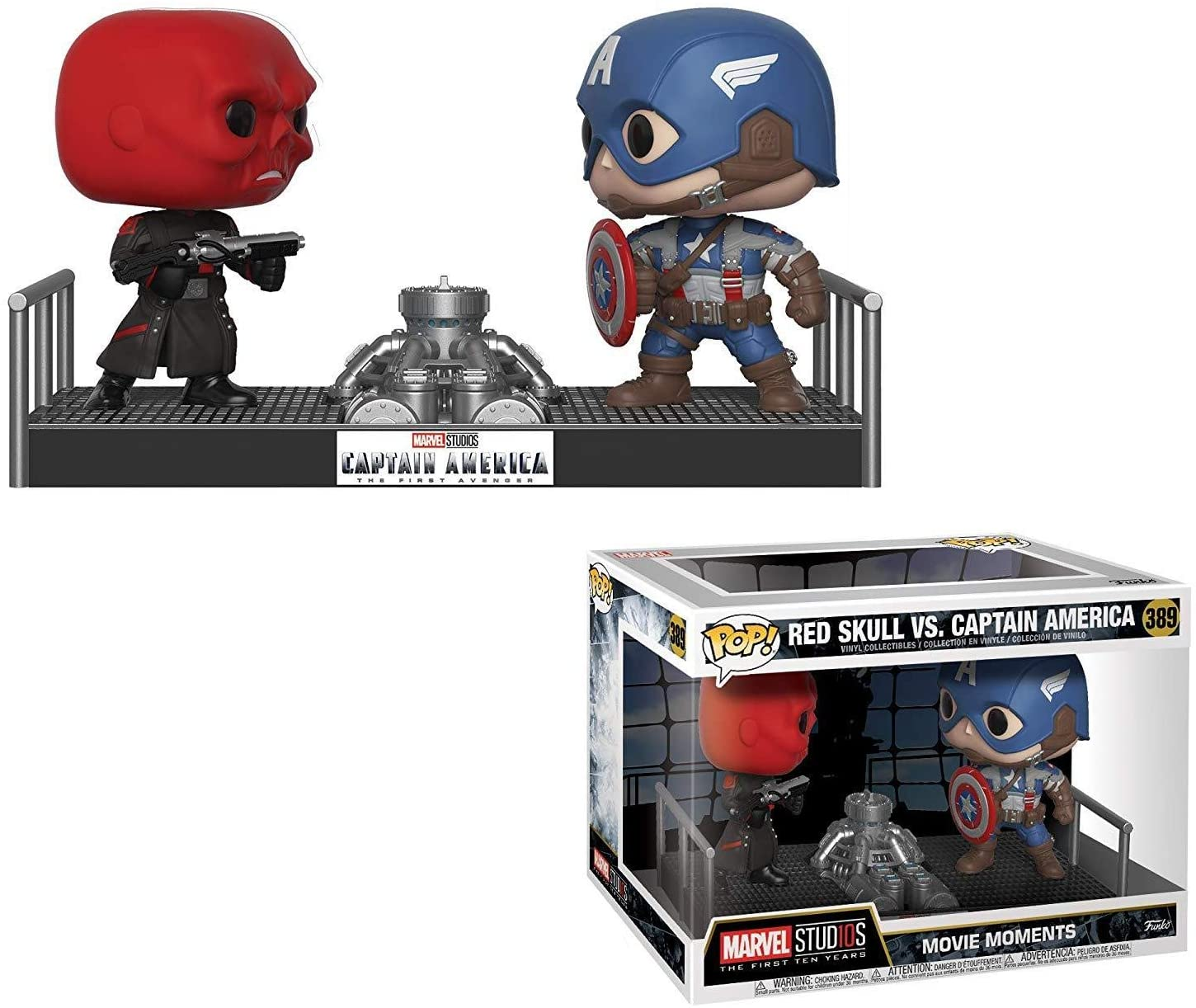 Funko Pop! 32880 Marvel Captain America Vs Red Skull: Amazon.es: Juguetes y juegos