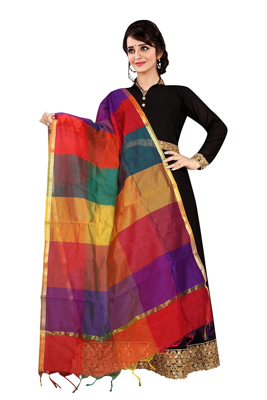 Multi Color ziya Indian Pakistani Womens Cotton Pure Silk Multicolour Digital Printed Dupatta Scarf Stole 6