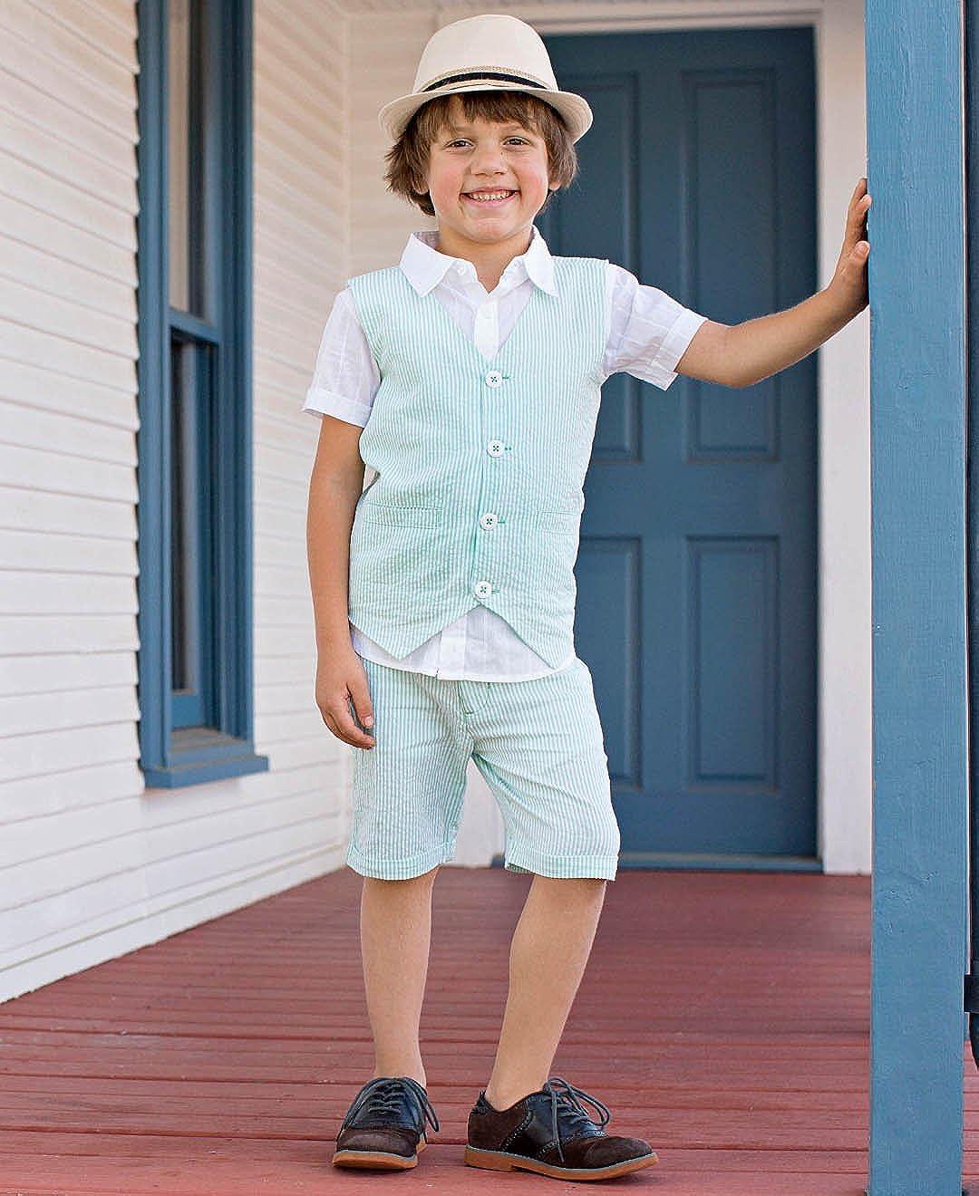 RuggedButts Little Boys Lightweight Seersucker Vest BVWYYXX-0000-SC-TDLR