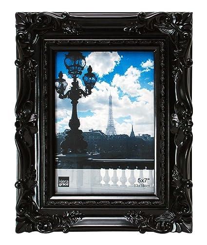 Black ornate frame Silhouette Image Unavailable Amazoncom Amazoncom Kiera Grace Virginia Ornate Picture Frame By 7inch
