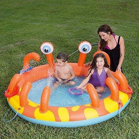 Xlq Grandes Piscinas para niños, 165X150X 63 cm Inflable en Forma ...