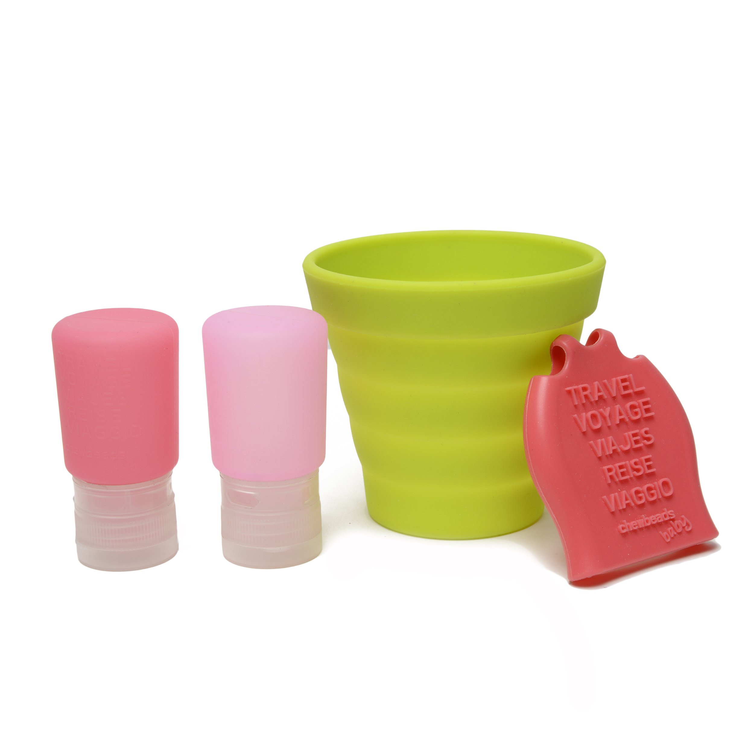 CB GO Tubby To Go Travel Bath Set by Chewbeads, Pink
