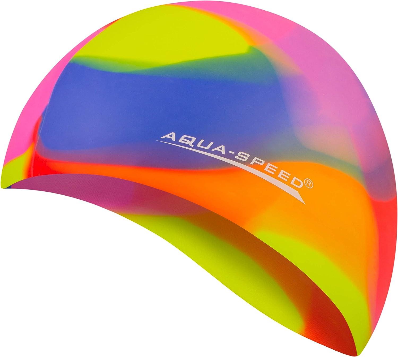Aqua Speed® Bunt Gorro de baño (Natación Silicona Colorida), einzelne Bunt Designs:Bunt / 75