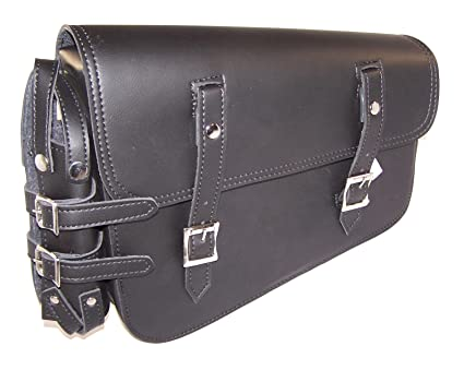 Amazon.com  MOTORCYCLE Leather Solo Bag Swingarm SIDE Bag for Harley ... f8b58e38a1db6