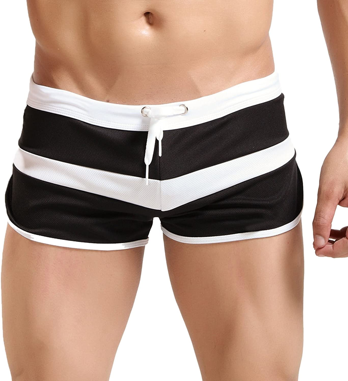 Hawiton Atractivos Transpirable Bañador de Natación para Hombre Boxeador Pantalones Trajes de Baño Cortos Hombre De Playa Piscina Bañadores
