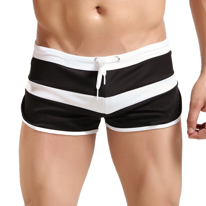 TALLA S. Hawiton Atractivos Transpirable Bañador de Natación para Hombre Boxeador Pantalones Trajes de Baño Cortos Hombre De Playa Piscina Bañadores