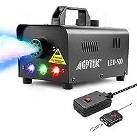 Máquina de niebla AGPtEK con mando a distancia inalámbrico y luz LED multicolor, 500 W, estable y portátil, apta para…