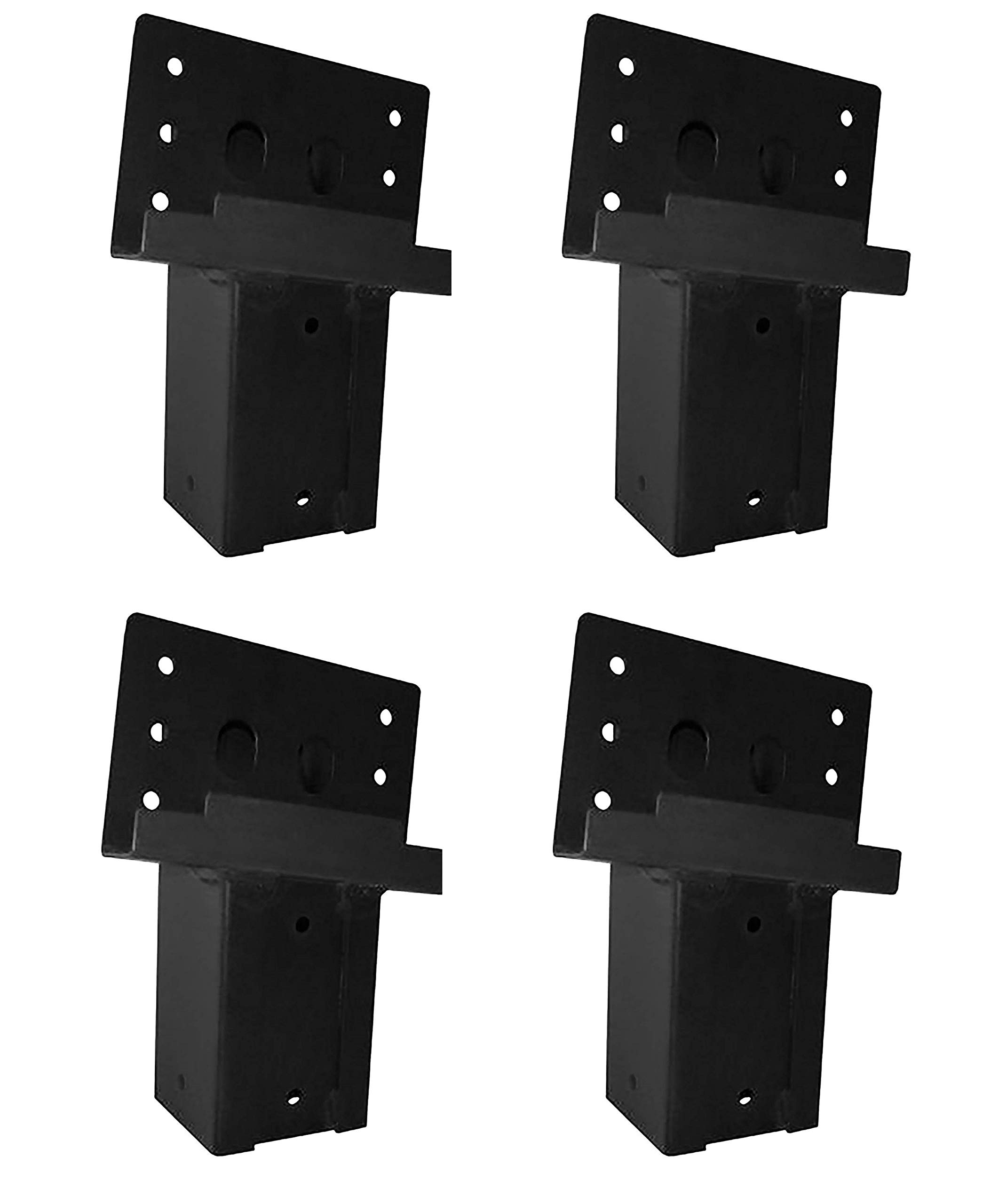 Elevators 4x4 Brackets for Deer Blinds, Playhouses, Swing Sets, Tree Houses. Made in The USA with Premium Construction Grade Steel. (Set of 4) (Pack of 4)