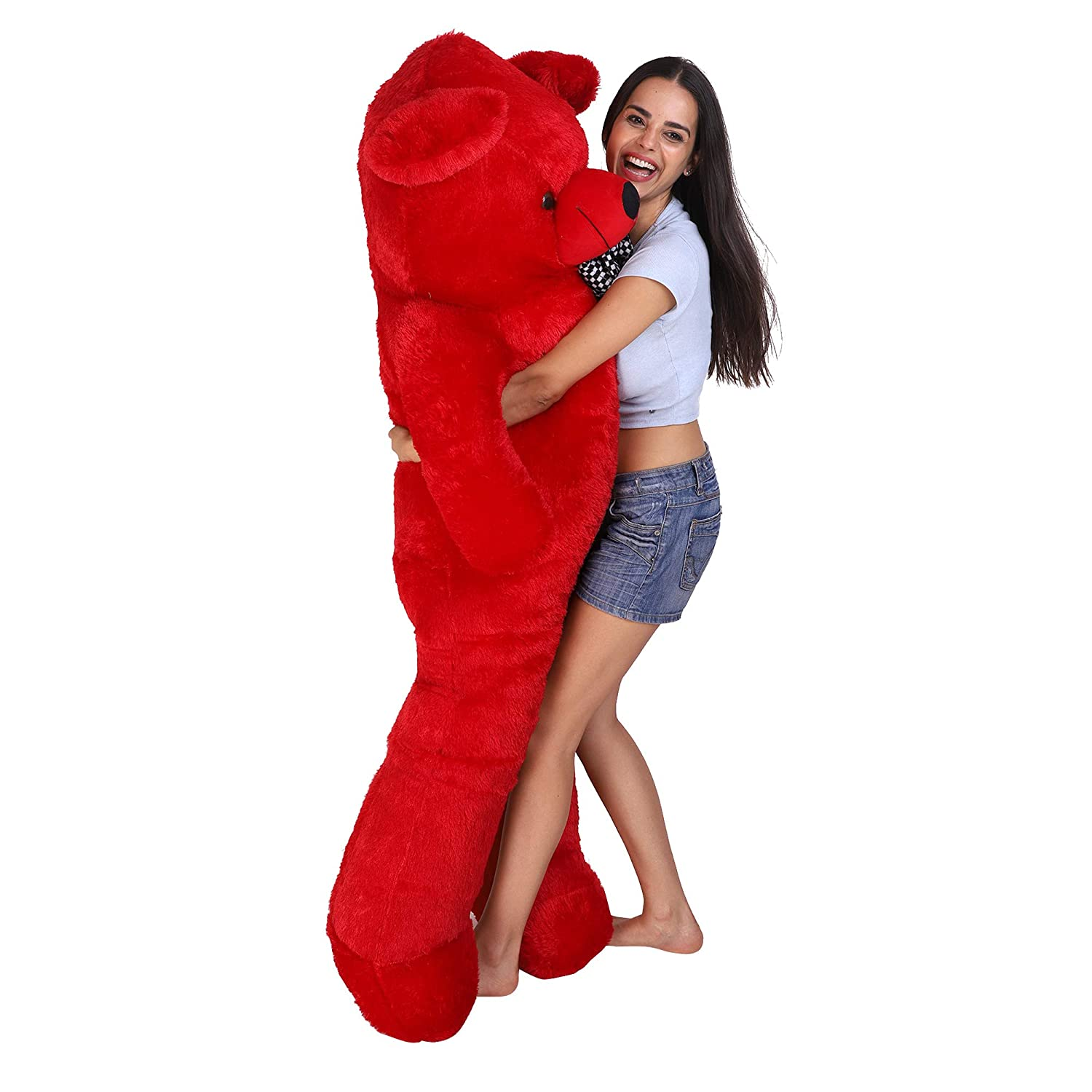 Red Teddy Bear 5 Feet, Buy Osjs Cute Teddy Bear With Neck Bow 5 Feet 152 Cm Red Online At Low Prices In India Amazon In