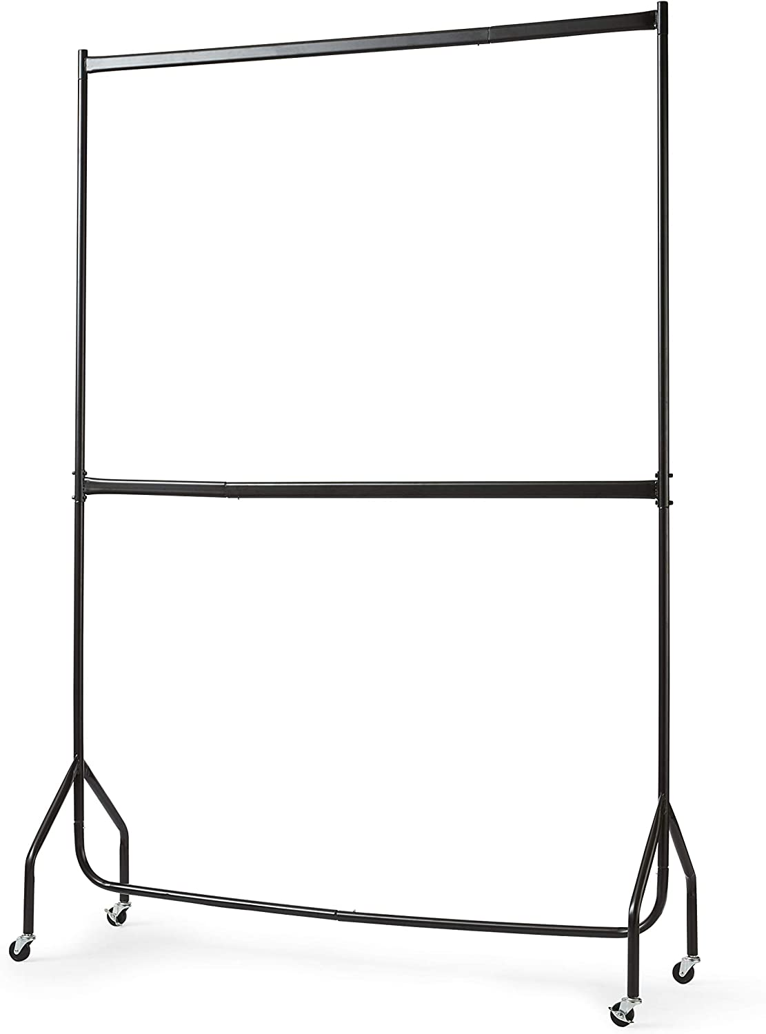 Direct Online Houseware Two Tier Heavy Duty Clothes Rail Garment Hanging Rack In Black 4ft Long x 7ft Tall