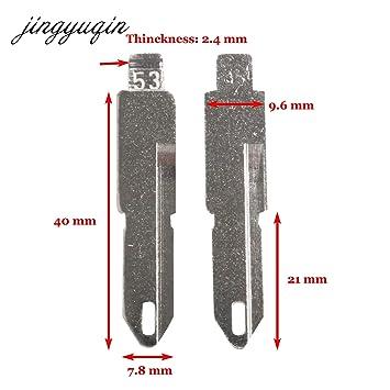 Amazon.com: AjaxStore - 2 piezas de llaves de coche NE73 en ...