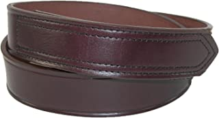 product image for Boston Leather Men's Big & Tall Leather No Scratch Work Belt with Hook and Loop Closure, 52, Brown