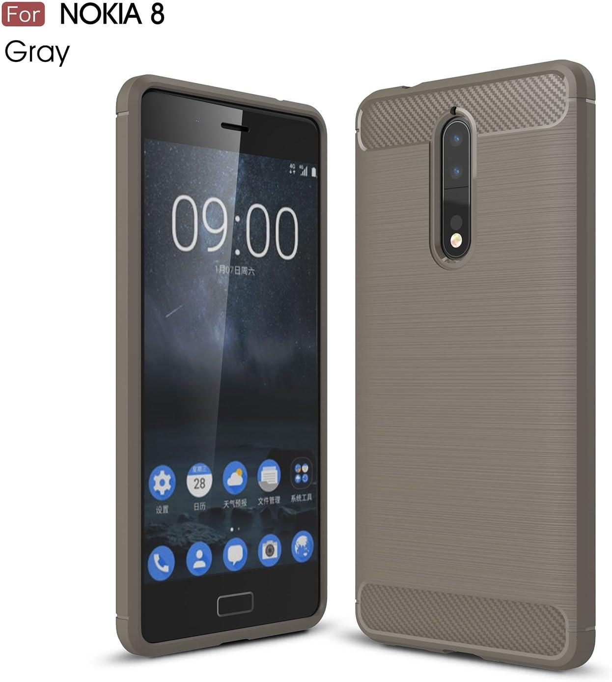 GHC Cubiertas y Estuches, para Nokia 8, Armadura de Fibra de ...