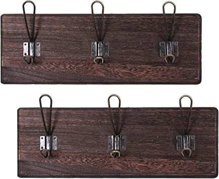Amazon.com: Perchero de madera estilo vintage modelo 2 ...