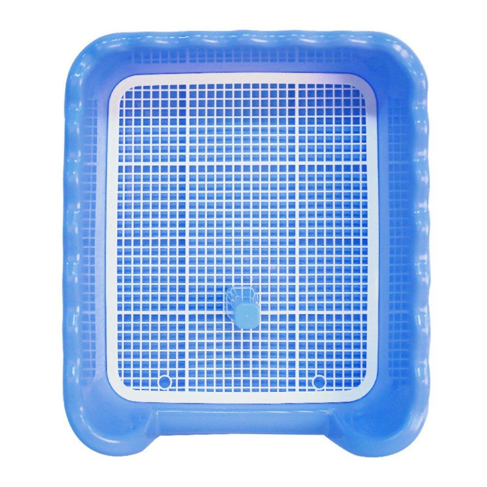 BLURY Toilette Antiscivolo per Cane Doppio Strato Rimovibile Toilette con Chiusura per Griglia per La Pulizia della Formazione Blu