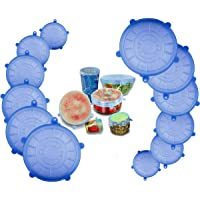 Silicone Stretch Fresh Food Storage Cover Stretch Bowl Lids 6 Pack