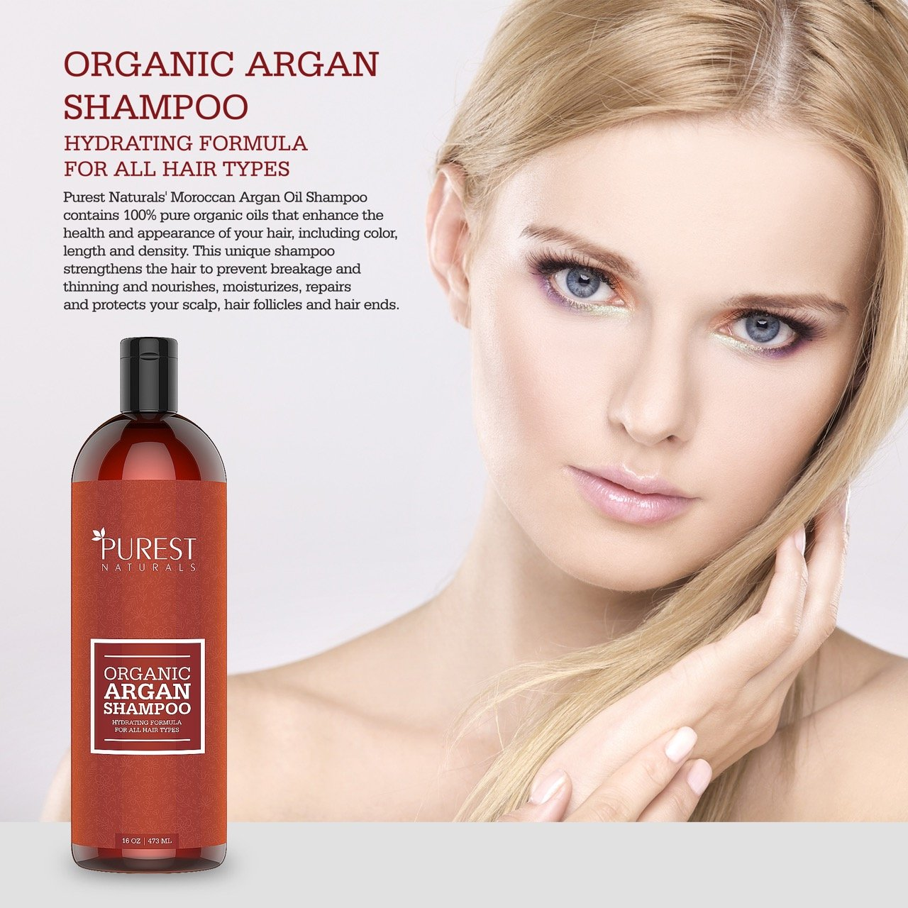 Amazon Purest Naturals Organic Argan Oil Daily Shampoo Best