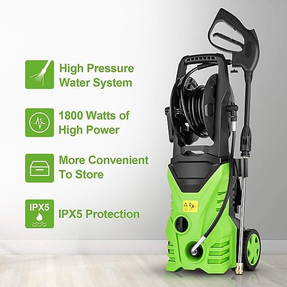 Amazon.com: Lavadora eléctrica a presión 3500PSI 2.6 GPM Gas ...