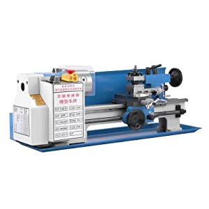 BestEquip Mini Metal Lathe 550W 7 x 14 Inch Metal Lathe 0.75HP 2500 RPM Infinitely Variable Spindle Speed Mini Lathe for Various Types of Metal Turning (7x14 inch)