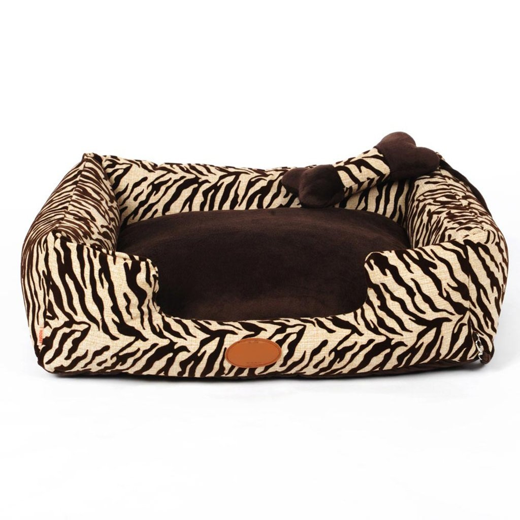 GJ@ + Pet Kennel Cat Nest Removable And Washable Four Seasons ApplySmall Dog Bed Mat Dog Room,Brown,90  70  20cm