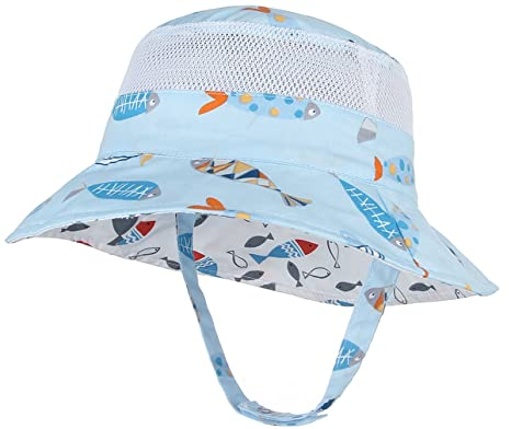 5807c1610fd Lukis Baby Toddlers Foldable Cartoon Bucket Hat Fishermen Hat Reversible Sun  Hat Windproof Bucket Cap
