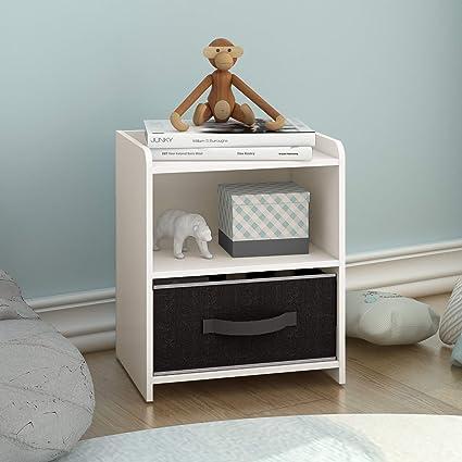 Amazoncom Devaise Wood End Tablenight Standbedside Table Storage