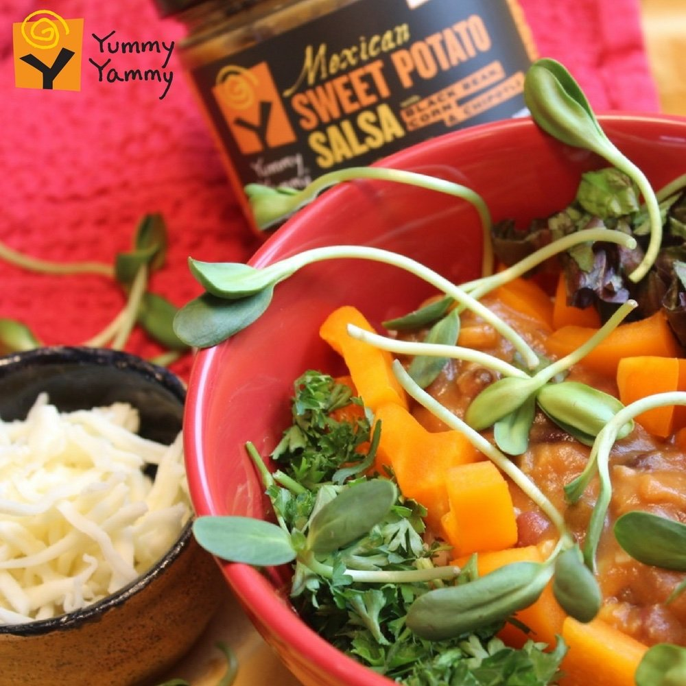 Amazon.com: Yummy Yammy Mexican A-Little-Bit-Hot Salsa, Better-Than-Hummus with Roasted Sweet Potato, Black Bean, Corn & Chipotle - 3 Jars - Best for Nachos ...