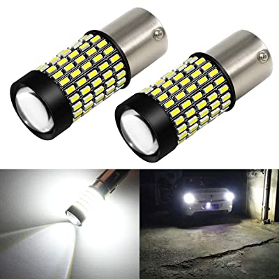 Phinlion 2800 Lumens 7506 1156 LED White Bulb Super Bright 3014 103-SMD BA15S 1156 7506 LED Bulbs with Projector for Back Up Reverse Lights, 6000K Xenon White: Automotive