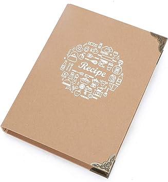 Blank Cookbook Binder Personalized Recipe Journal