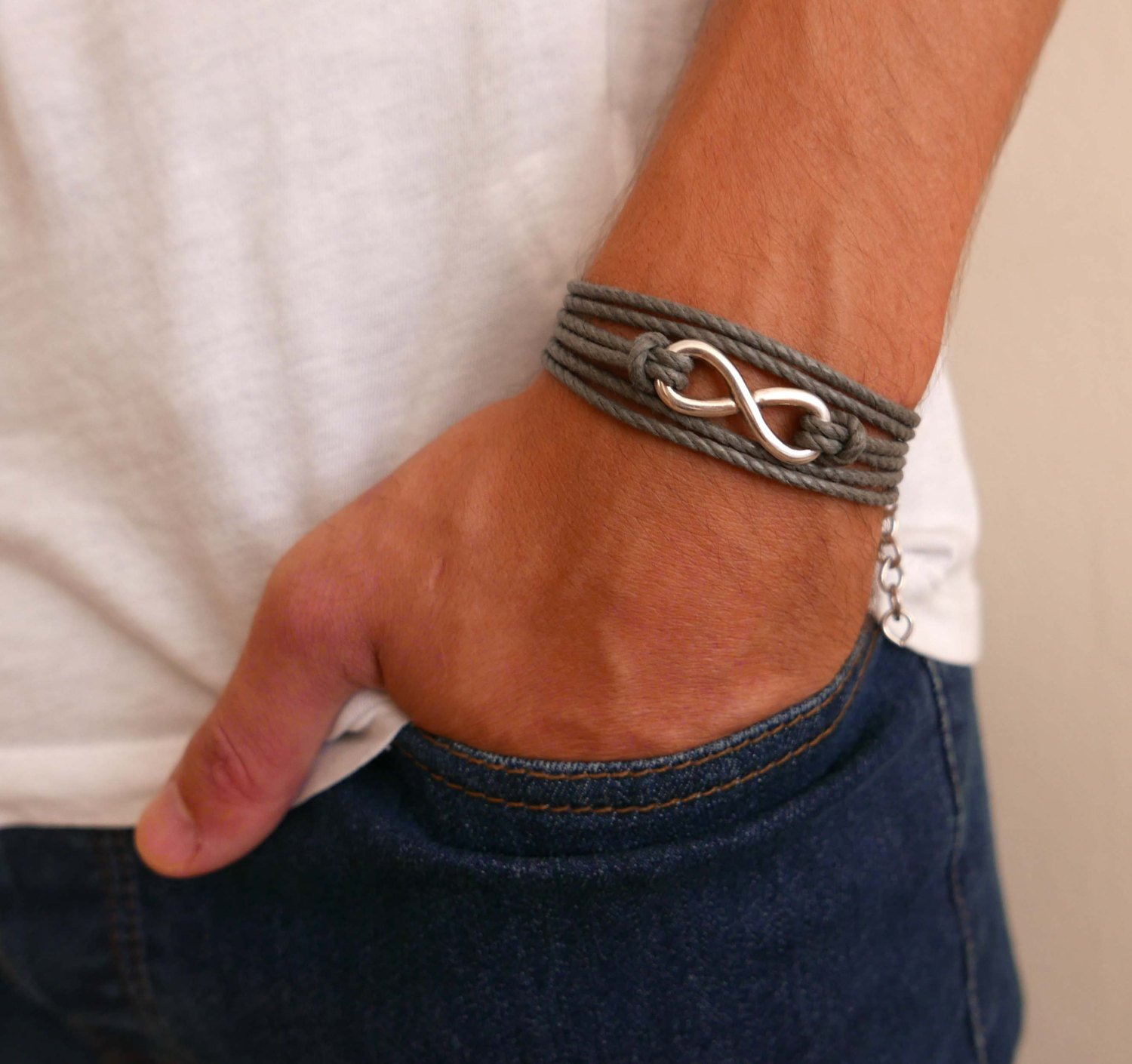Men's Bracelet - Men's Infinity Bracelet - Men's Vegan Bracelet - Men's Jewelry - Jewelry For Men - Bracelets For men - Male Jewelry - Male Bracelet