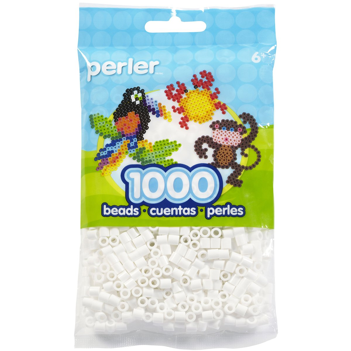 White Perler Beads Fuse Beads for Crafts 1000pcs