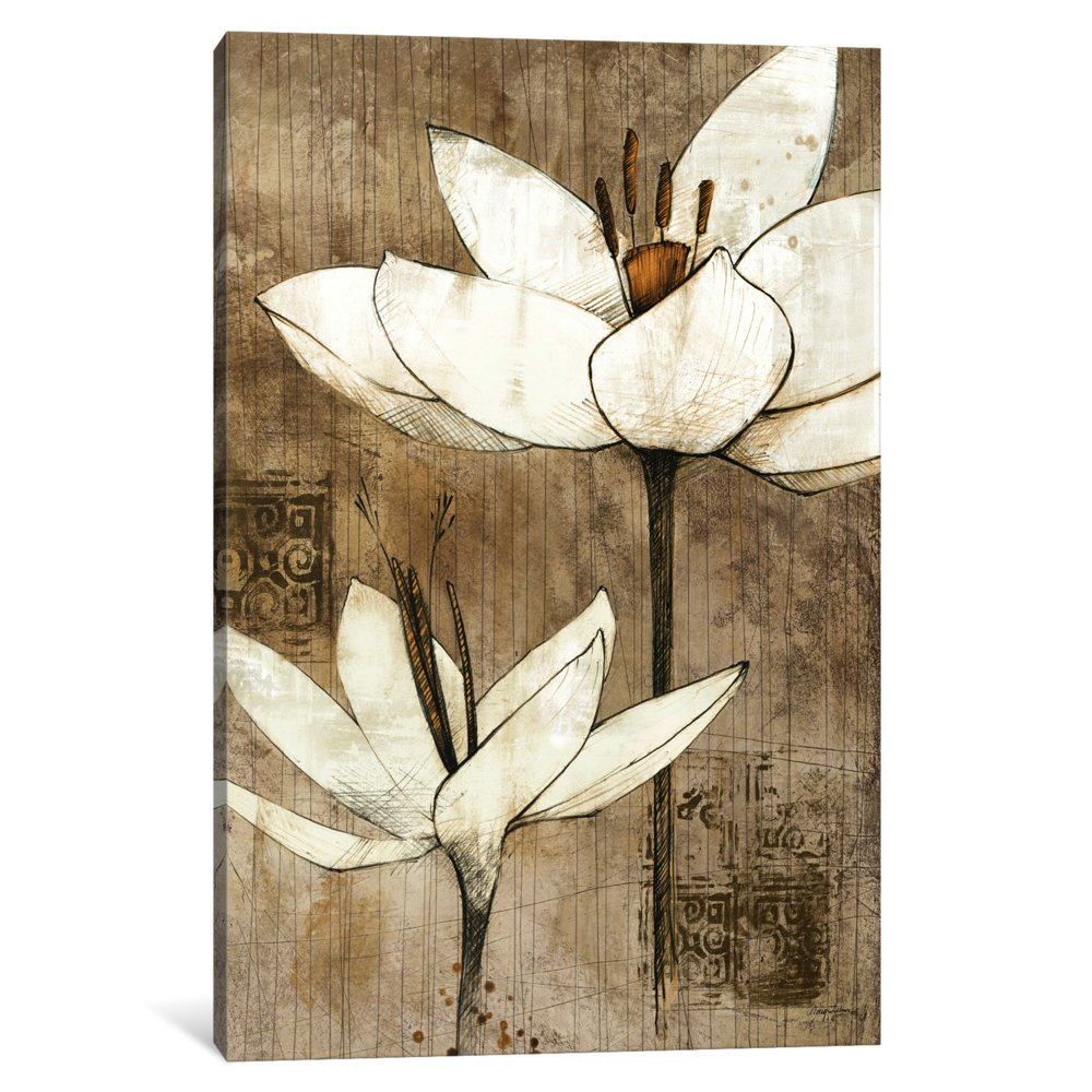 Icanvasart 1 Piece Pencil Floral I Canvas Print By Avery Tillmon 18 X 12 1 5 Deep Amazon In Home Kitchen