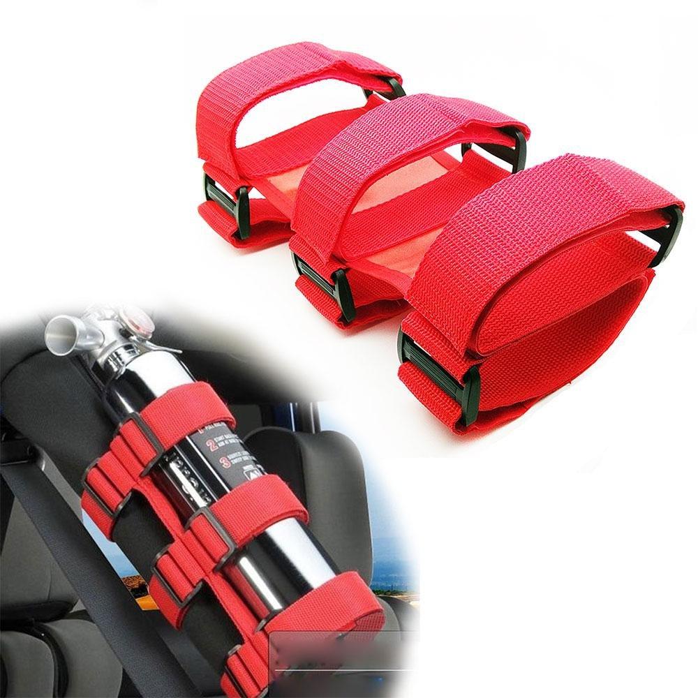 Aolvo - Soporte de extintor de Incendios para Coches, Camiones, Jeep, RV/UTV/Wrangler/CJ/JK/TJ(Negro)