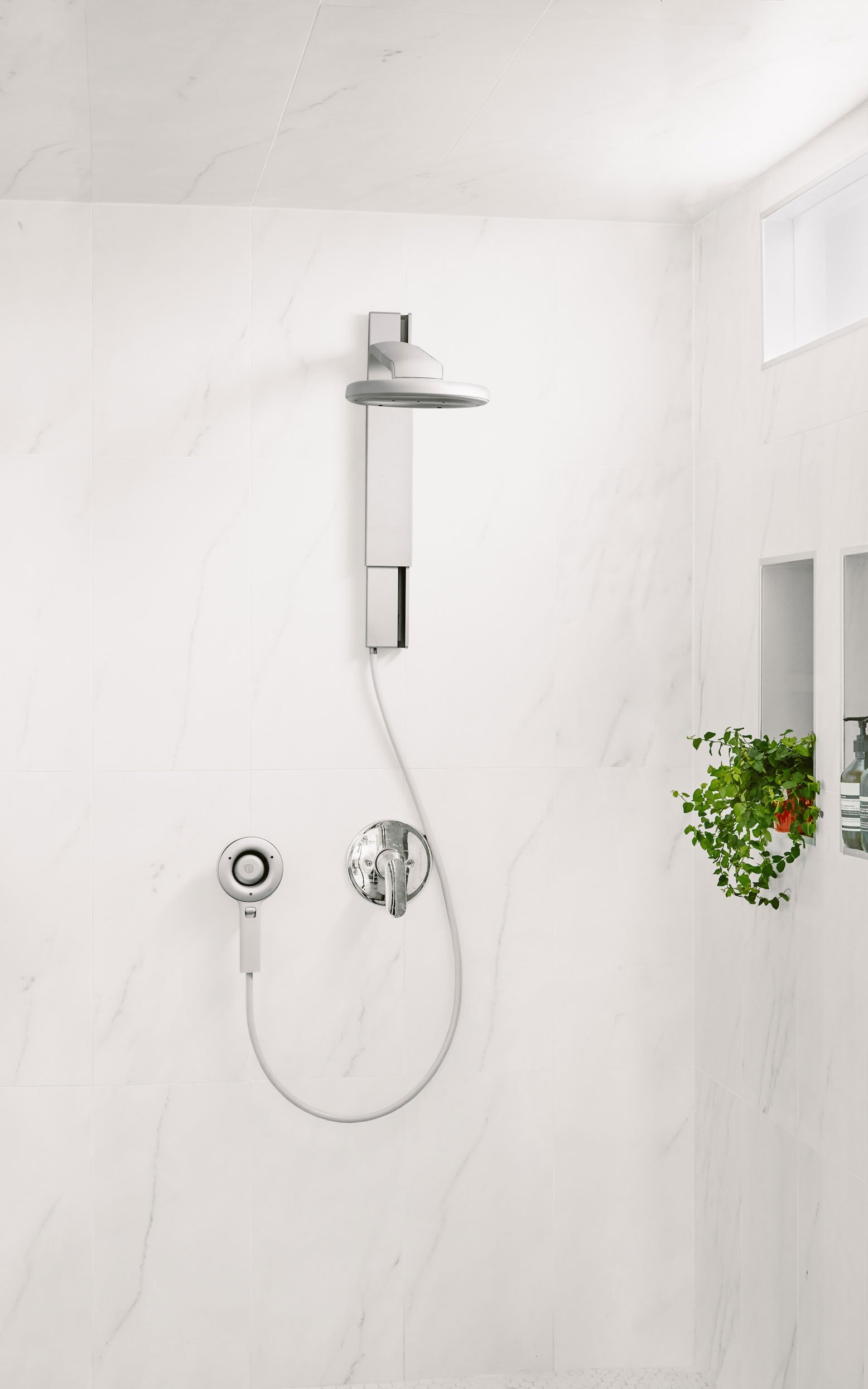 Nebia Spa Shower: Luxury Water Innovation. Sustainable Atomizing Shower System with 10'' Head, Handheld Wand, Adjustable Height. Award Winning Design, Aluminum, Easy DIY Install. Made in USA. by Nebia (Image #4)