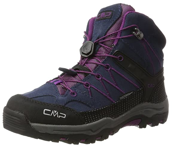 CMP Rigel Mid WP, Chaussures de Randonnée Hautes Mixte Adulte, Bleu (B.Blue-Purple), 34 EU