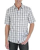 Wrangler Men's Woven Short-Sleeve Shirt - Windowpane