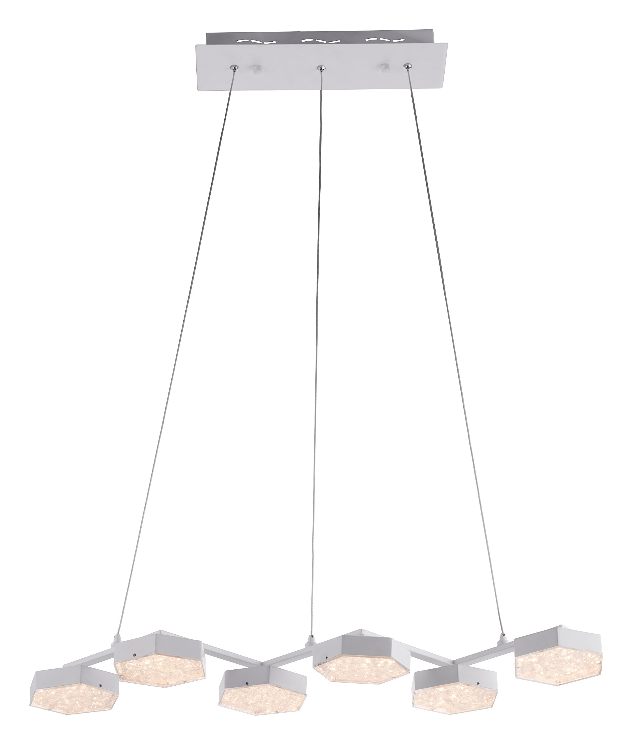 Zuo Dunk Ceiling Lamp, White by Zuo Modern