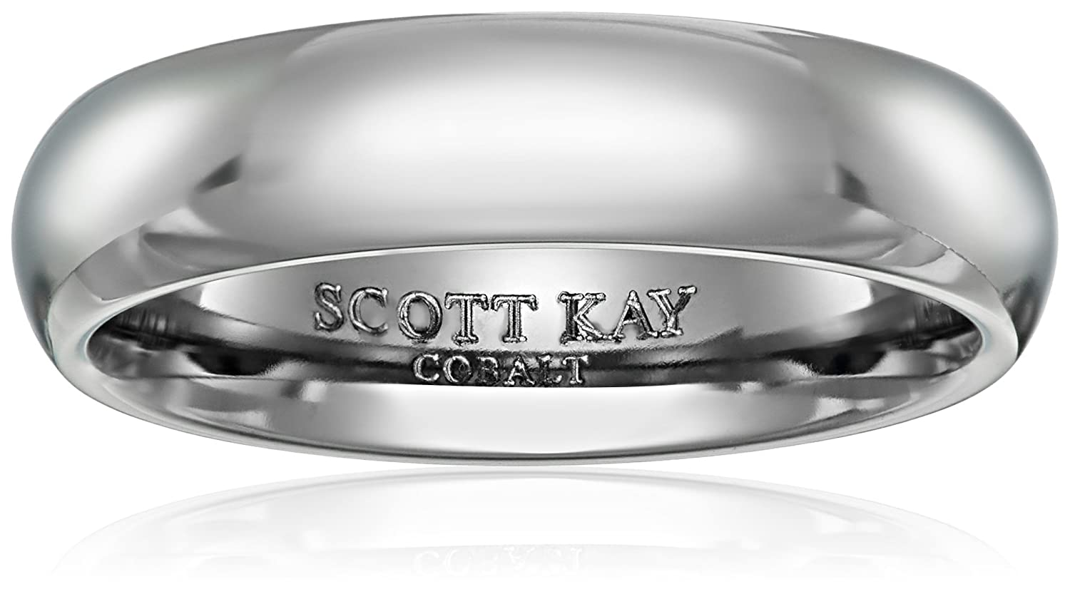 Men's Scott Kay Cobalt Prime Grey Dome Band With Stone Design And Bright Finish Wedding Bands Amazon: Scott Kay Prime Cobalt Wedding Band At Websimilar.org
