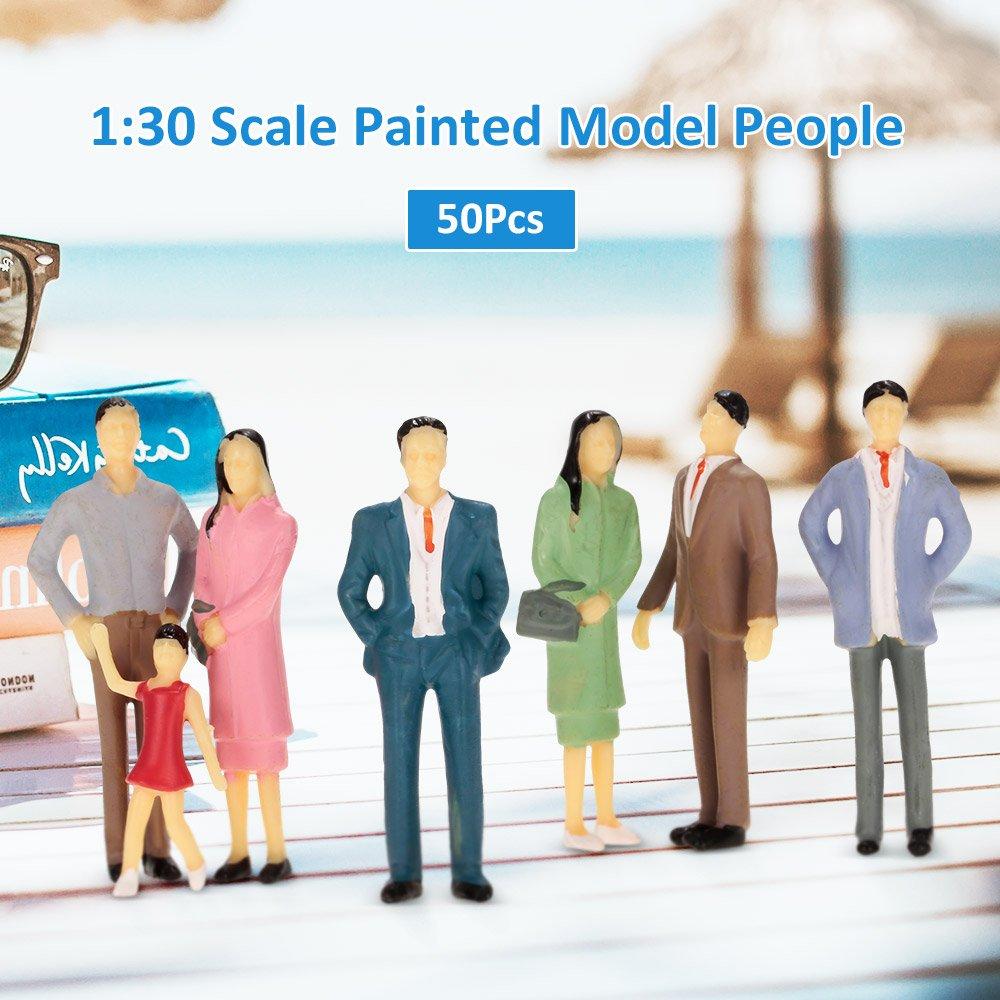 Uteruik 100pcs Figuren 1:100 Skalierte Modelle Zug Bauen Menschen f/ür Layout