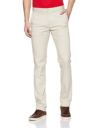 United Colors of Benetton Men s Slim Fit Casual Trousers (203762417 Off  White 36W x ... 76546ce28f71