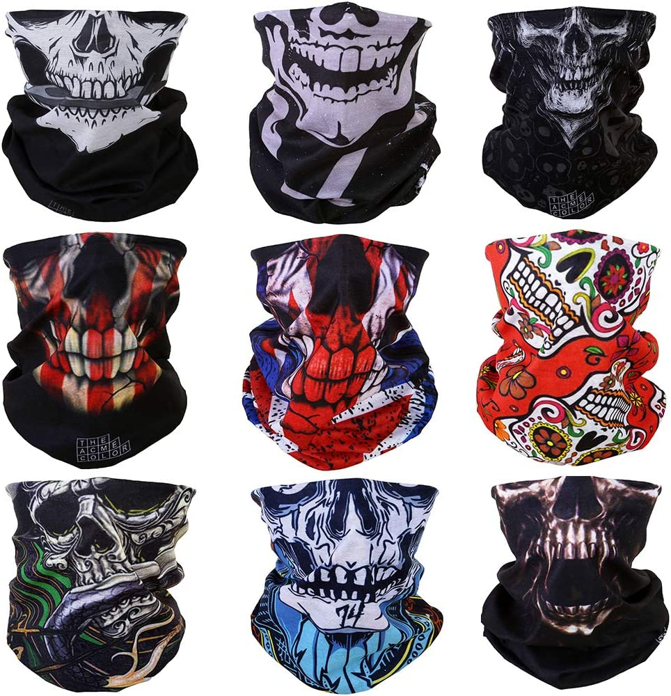 Seamless Face Mask Shield Head Wraps Bandana Headband Neck Gaiter Multifunction