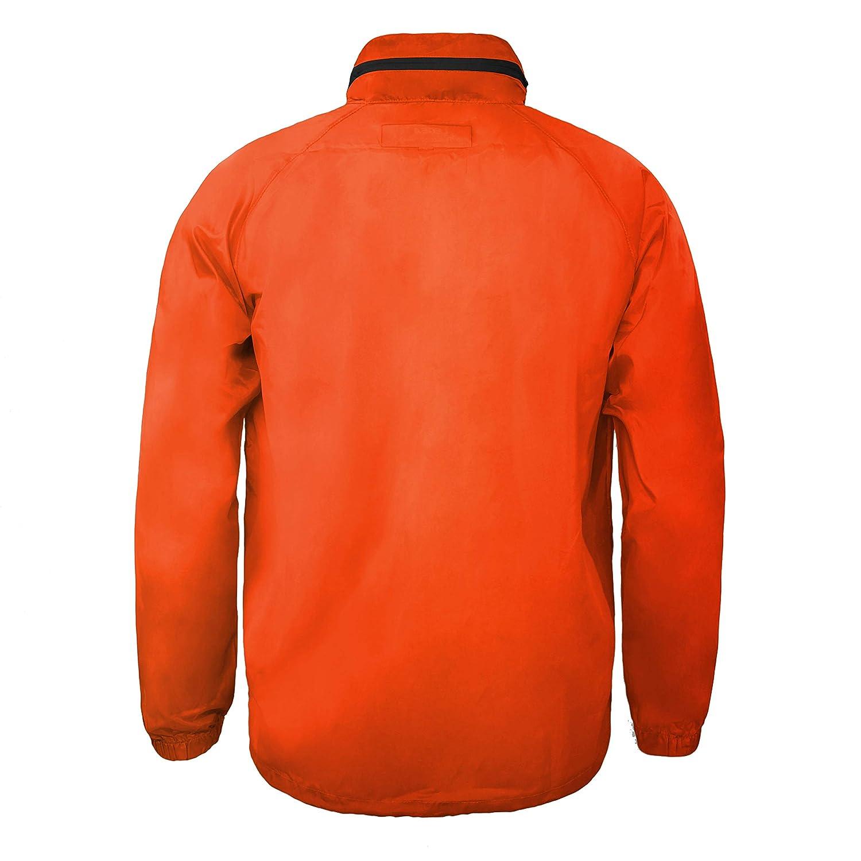 Legea Cairo Tuono Veste manches longues à capuche coupe-vent Homme Vert Orange Fluo/Noir