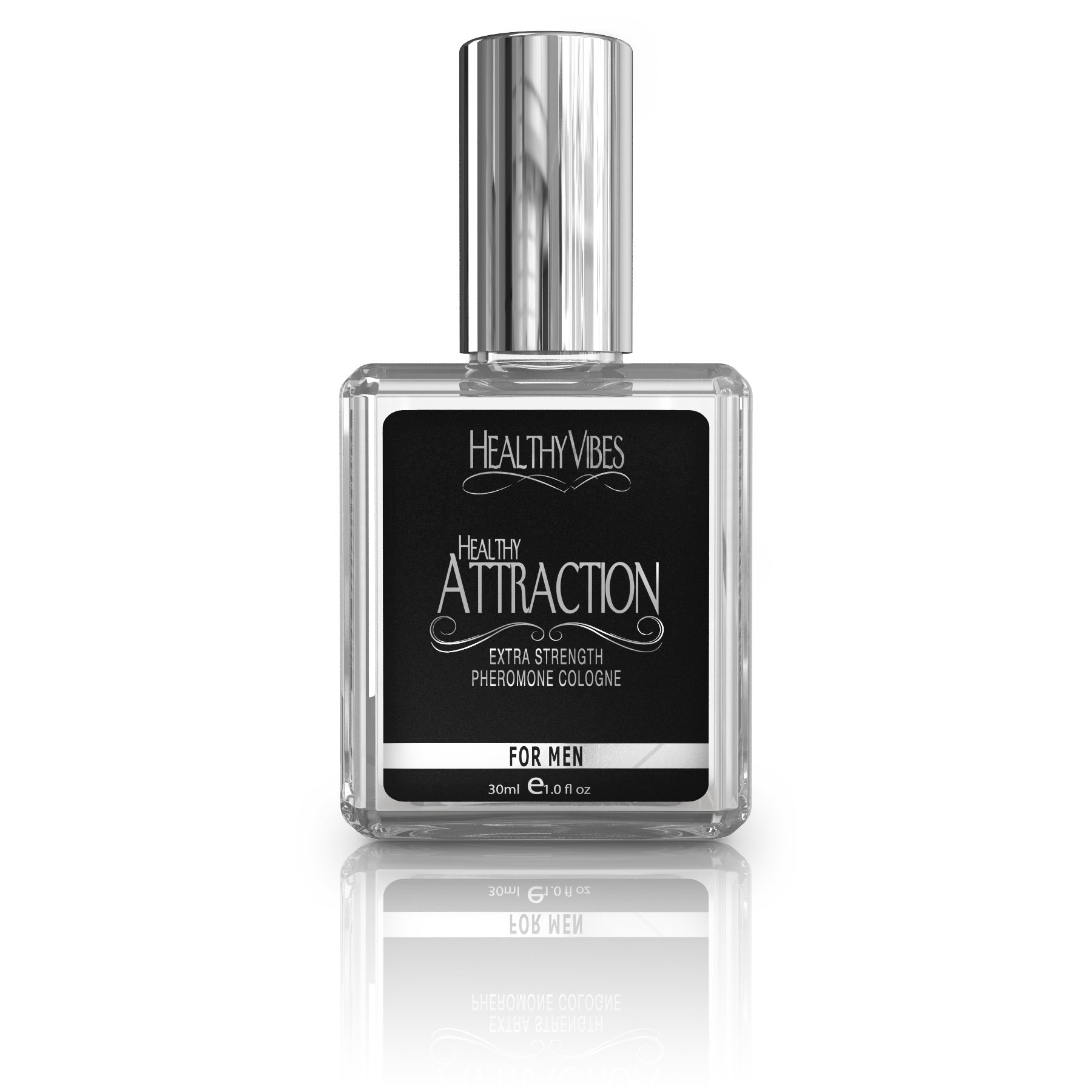 Healthy Attraction Pheromone Cologne 1 Fl Oz Bold Scent Extra Strength Pheromone Oil - Infused with Andronone and Copulandrone Pheromones for Maximum Potency - Made in the USA