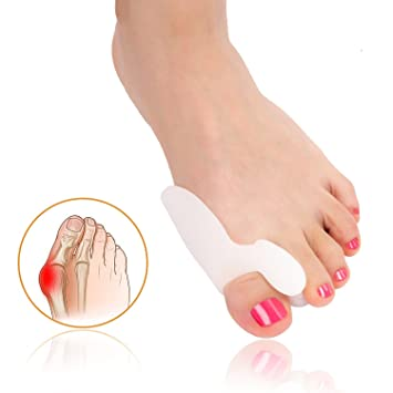 2 Pairs Bunion Corrector, Bunion Relief Big Toe Separators and Bunion Toe Straightener, Metatarsal