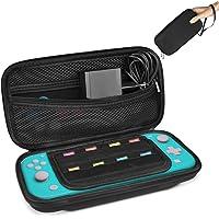 Keten Funda para Nintendo Switch Lite, Funda Protector Oortátil Transportar Compatible para Nintendo Switch Lite y Otros Accesorios con 8 Cartuchos de Juegos(Negro)