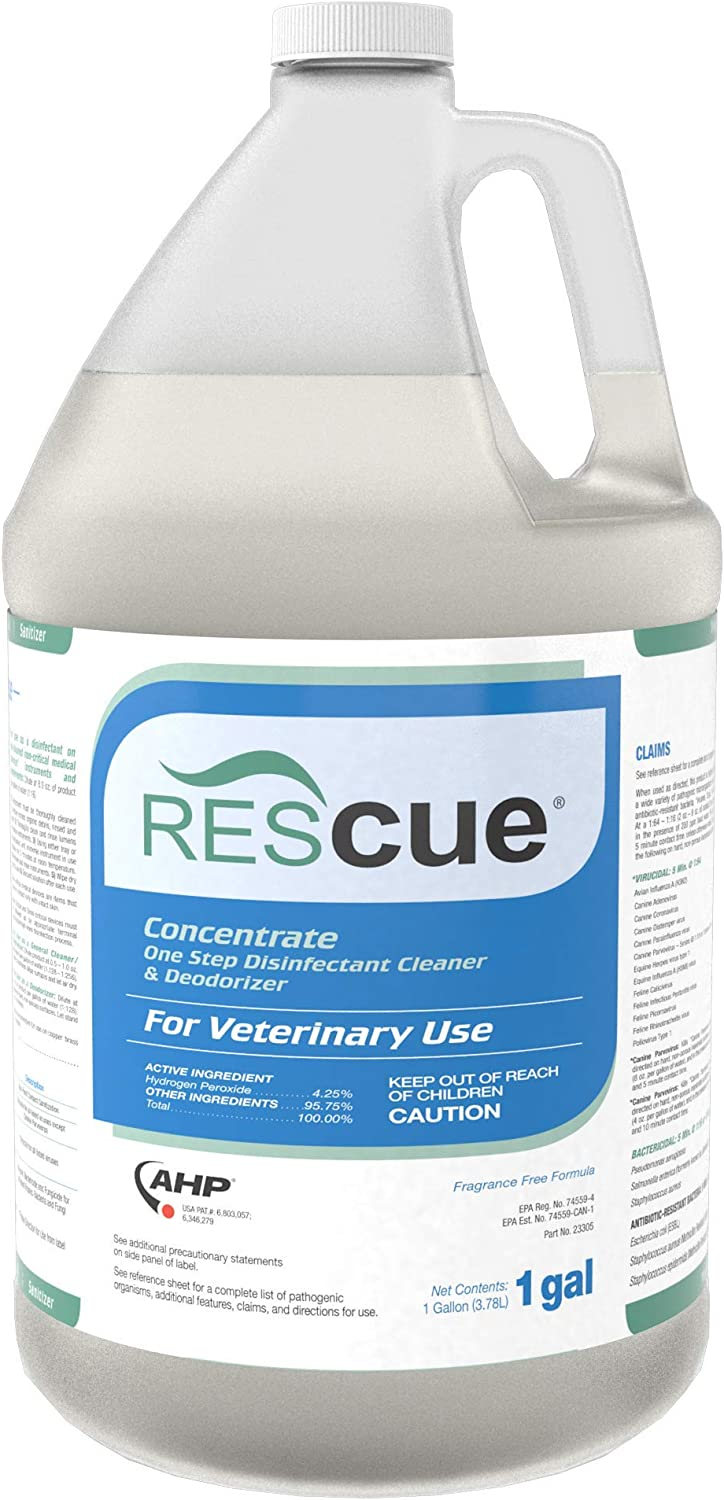 Pet Odor And Stain Removers : Rescue One-Step Disinfectant Cleaner & Deodorizer, Concentrate Bottle (1 Gallon)