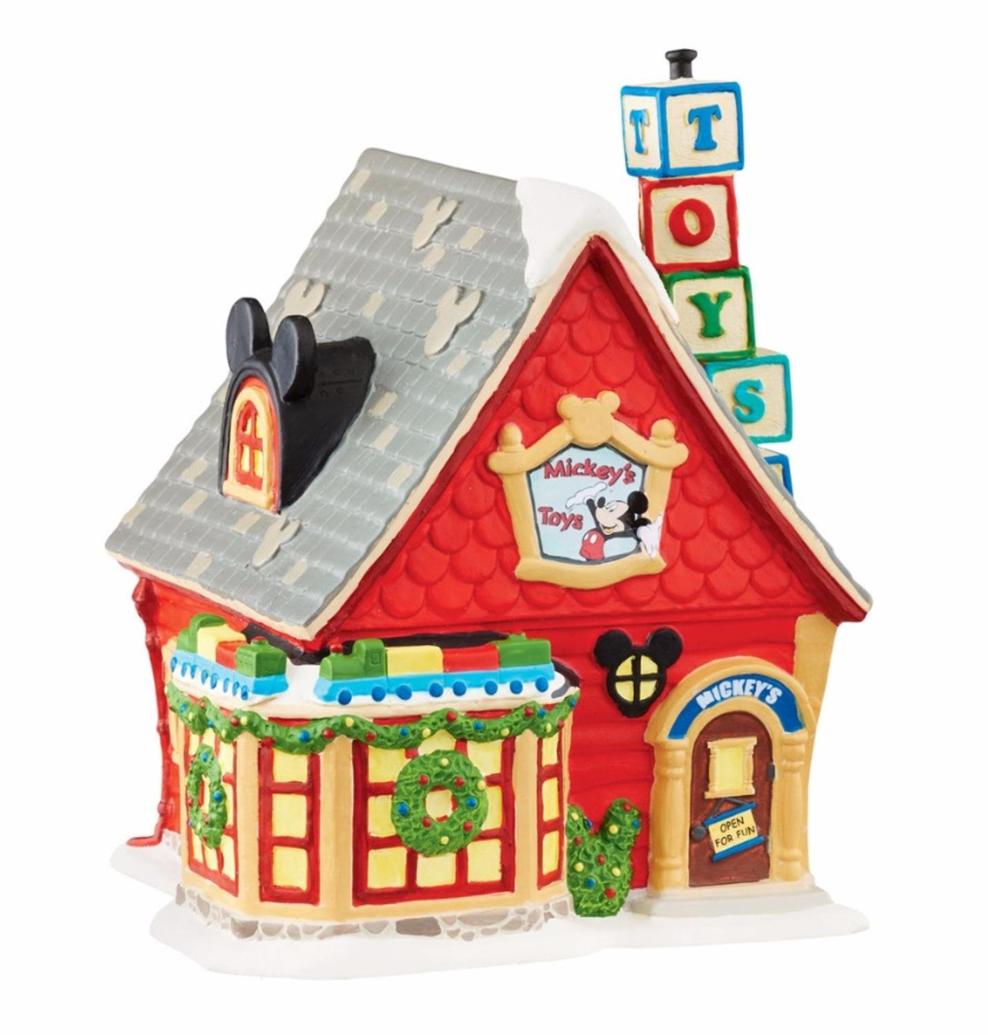 Department 56 Disney ''Mickey's Toy Store'' Christmas Porcelain Lighted Building #4047184