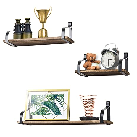 floating shelves wall mounted set of 3 by love kankei