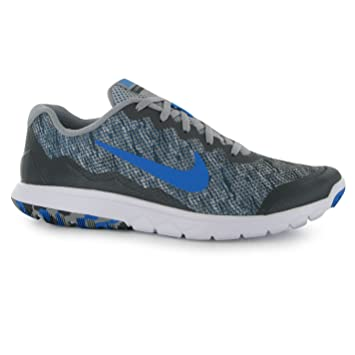 Nike Flex Expert 4 Training Shoes Mens Grey/Blue Fitness Trainers Sneakers