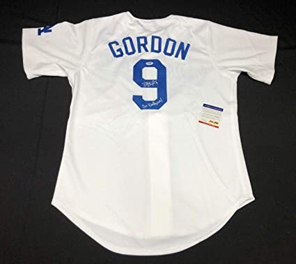 60f92e0fc Dee Gordon Autographed Signed Los Angeles Dodgers Baseball Jersey (Size XL)  Go Dodgers PSA